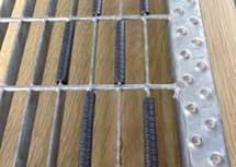 Strisce antiscivolo per gradini scale pavimenti grigliati antiscivolo
