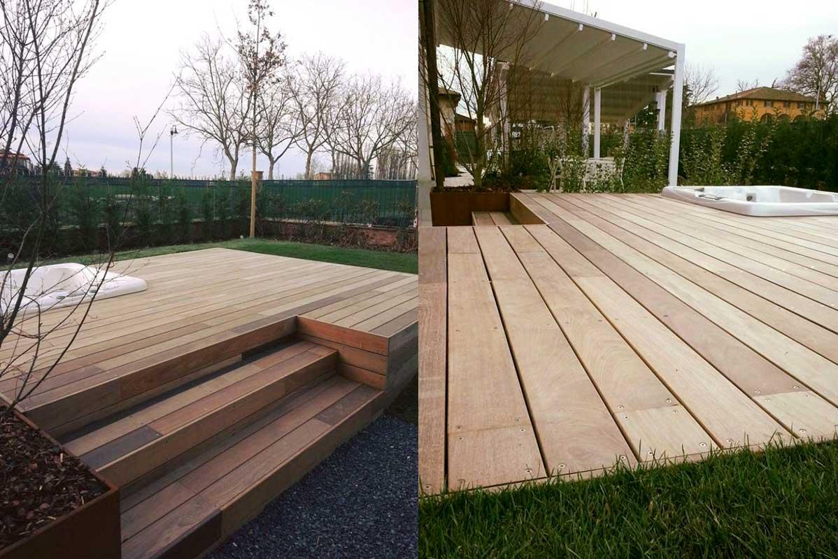 Fornitura posa in opera pavimenti in legno per esterni for Pavimento da giardino