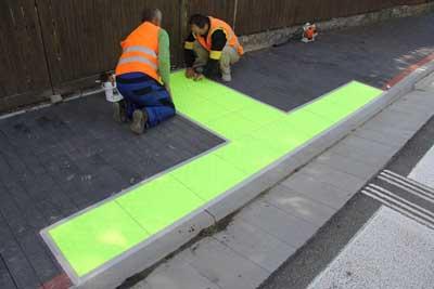 Percorsi tattili cebic asfalto stampato