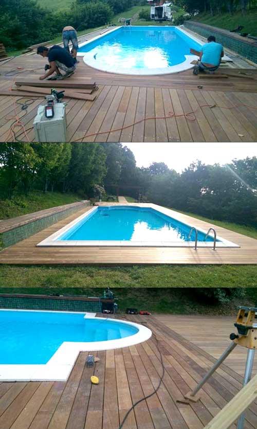 Fornitura posa in opera pavimenti in legno per esterni interni scale - Piscine da interno ...